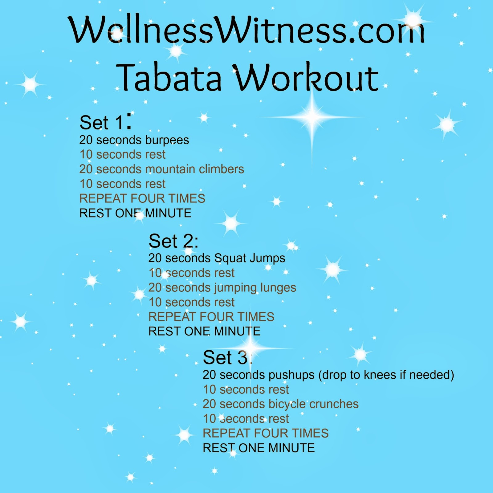 At Home Workout IdeaTabata Style Wellness Witness