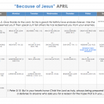 Because of Jesus…an April challenge we want to invite YOU into!